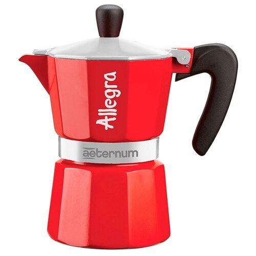Фото - Гейзерная кофеварка Bialetti Aeternum Allegra (3 порции), красный гейзерная кофеварка bialetti aeternum divina 4 порции металлик