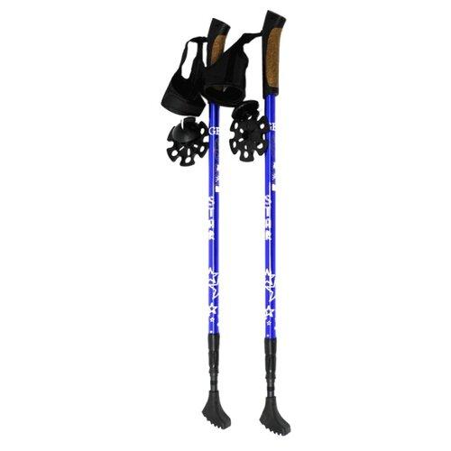 Палки для скандинавской ходьбы 2 шт. GESS Телескопические Star Walker синий
