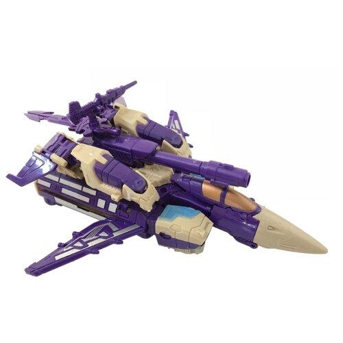 Робот-трансформер База игрушек Разрушитель 3 в 1 фиолетовый/бежевый