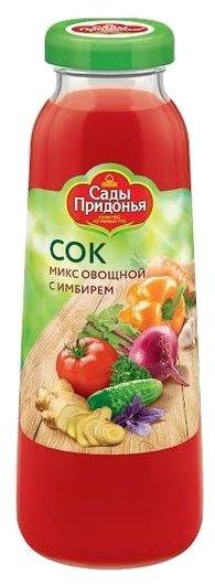 Сок Сады Придонья микс овощной с имбирем 0,3л
