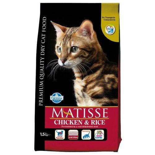 Корм для кошек Farmina Matisse с курицей и с рисом 1.5 кг корм консервированный для кошек farmina matisse мусс с ягненком 85 г