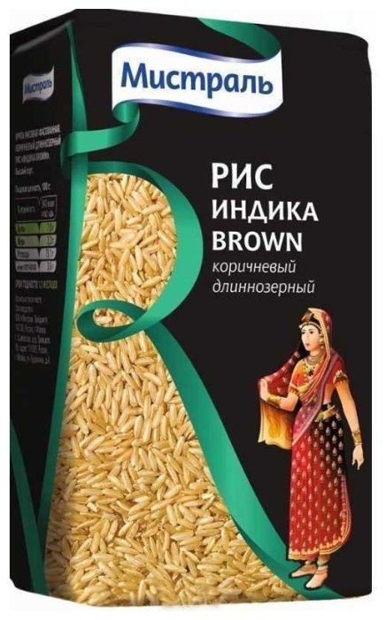 Рис Мистраль Индика коричневый длиннозерный Brown 1 кг