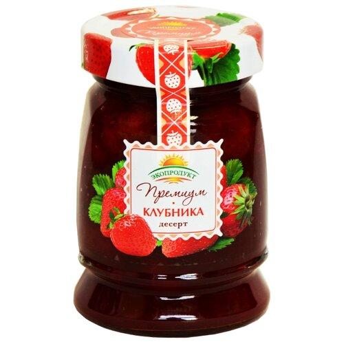 Десерт Экопродукт Премиум клубника, банка 330 гВаренье, повидло, протертые ягоды<br>