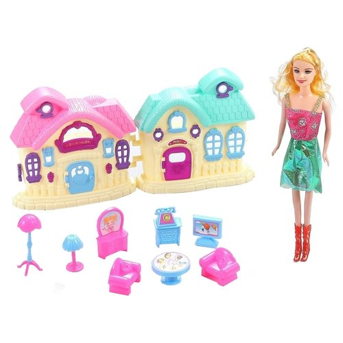 Купить Dolly Toy кукольный домик Летние краски DOL0803-003, розовый/голубой, Кукольные домики