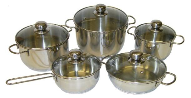 Амет Набор посуды для приготовления амет, Классика-Прима, стеклянная крышка