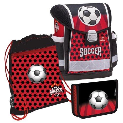 Купить Belmil Ранец Classy Soccer с наполнением (403-13/639/SET), красный/черный, Рюкзаки, ранцы