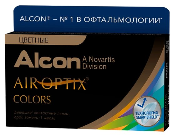 Цветные контактные линзы Alcon Air Optix Colors, 2 шт. -5.75, Alcon Air Optix Colors Brown