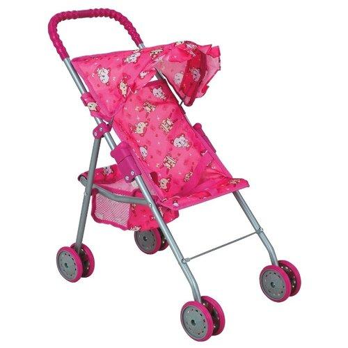 Купить Прогулочная коляска Buggy Boom Mixy (8006) розовый/мишки, Коляски для кукол