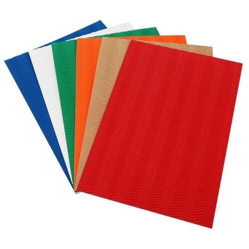 Цветная бумага гофрированная Шесть цветов Белоснежка, 22х32.5 см, 6 л., 6 цв. бумага для рукоделия белоснежка цветущие сады 30 х 45 см