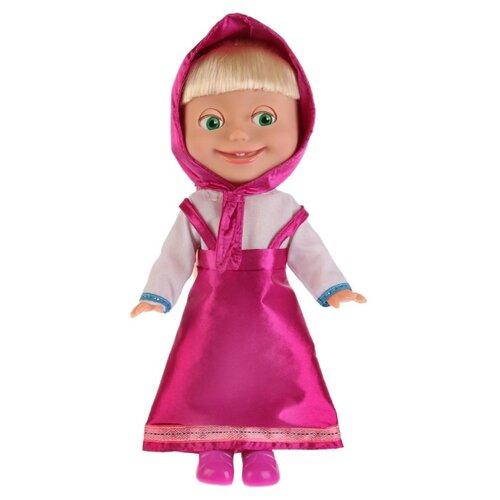 Купить Интерактивная кукла Карапуз Маша и Медведь Маша в классическом наряде, 30 см, Y83030, Куклы и пупсы