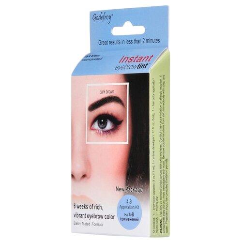Godefroy Краска-хна синтетическая в капсулах для бровей Instant Eyebrow Tint 4 шт. dark brown