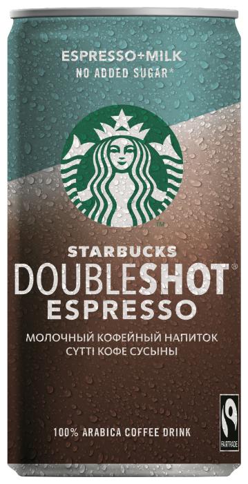 Молочный кофейный напиток Starbucks Doubleshot Espresso без сахара 0.2 л