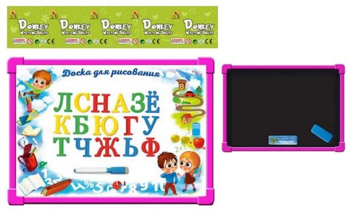 Доска для рисования детская Donkey Toys двусторонняя (R7112-4)