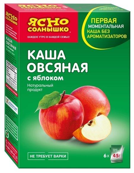 Каша Ясно солнышко овсяная с яблоком 270г