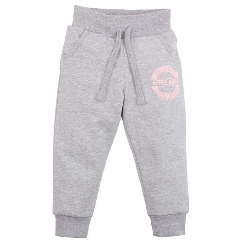 Купить Спортивные брюки Free Age размер 116, серый меланж, Брюки