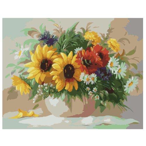 Купить Paintboy Картина по номерам Садовый букет 40х50 см (GX6291), Картины по номерам и контурам