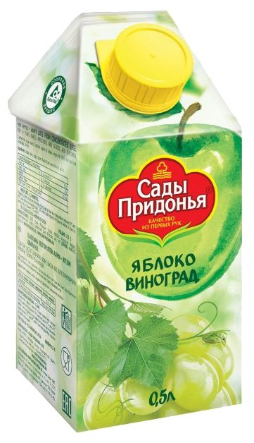 Сок Сады Придонья Яблоко-Виноград, с крышкой