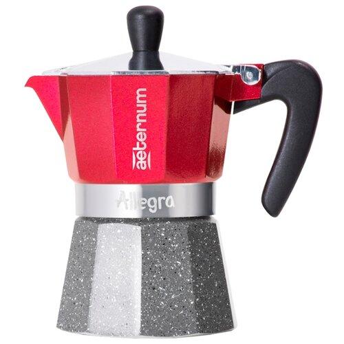 Кофеварка Bialetti Aeternum Allegra (3 порции) красный/серый