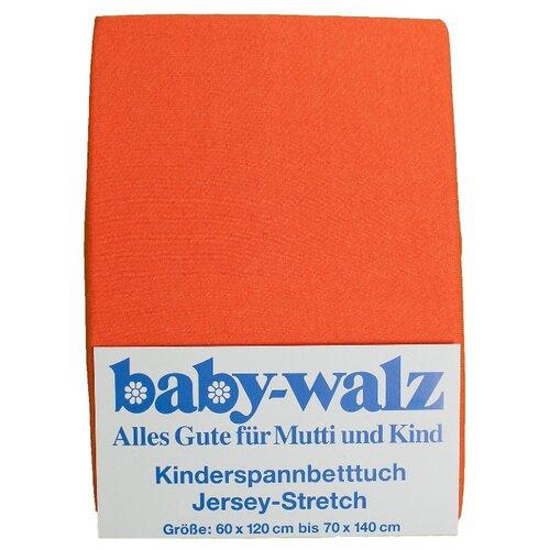 Baby Walz простыня натяжная оранжевый недорого