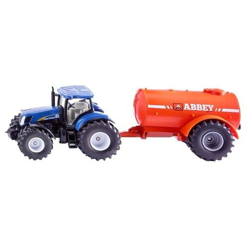 Трактор Siku New Holland с цистерной (1945) 1:50 синий/оранжевый
