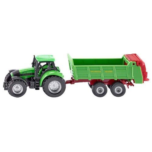 Трактор Siku Deutz с прицепом (1673) 1:55 зеленый трактор экскаватор falk педальный с прицепом зеленый 225 см
