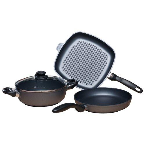 Набор посуды Swiss Diamond XD SET604 4 пр. черный набор посуды swiss diamond premium steel sd ps set l3