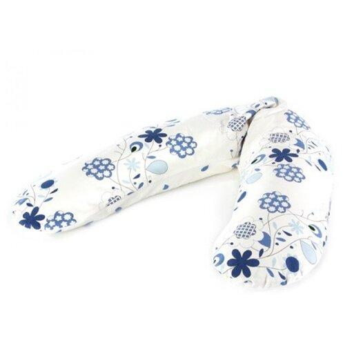 Фото - Подушка Theraline для беременных 190 см букет синий подушки для беременных theraline подушка для кормления 190 см