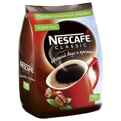 Кофе растворимый Nescafe Classic гранулированный, пакет, 750 г
