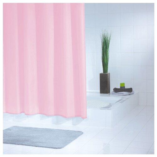 Штора для ванной RIDDER Standard 180x200 розовыйШторы и карнизы<br>