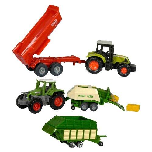Купить Набор машин Siku Сельскохозяйственная техника (6286) 1:55 зеленый/красный, Машинки и техника