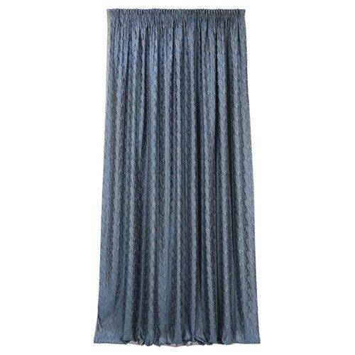 Комплект Kauffort Rosemary на тесьме 270 см синий комплект штор kauffort rosemary