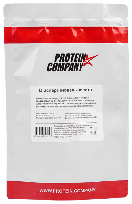PROTEIN.COMPANY D-аспарагиновая кислота (200 г)