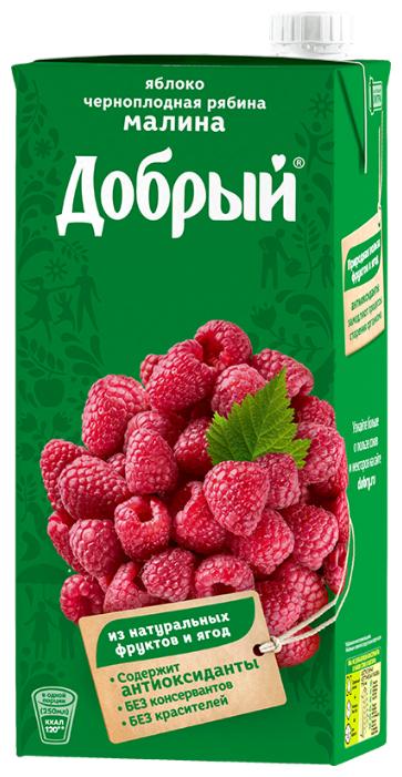 Нектар Добрый Яблоко-Малина-Черноплодная рябина, 1 л
