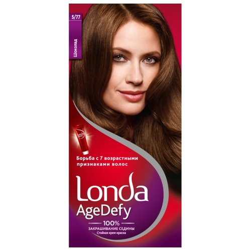 Londa Age Defy стойкая крем-краска для волос, 5/77 шоколад краска д волос londa age defy 2 0 черный