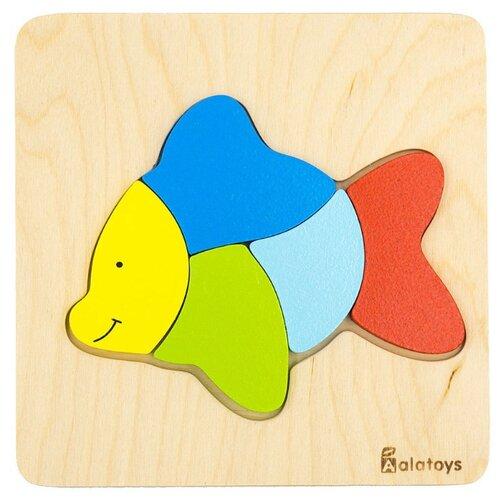 Рамка-вкладыш Alatoys Рыбка (ПЗЛ1801), 5 дет. фото