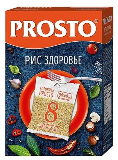 Рис PROSTO длиннозерный бурый Здоровье 500 г
