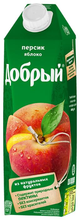Нектар Добрый персик - яблоко, 1л