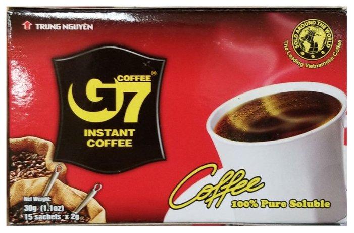 Растворимый кофе Trung Nguyen G7 черный, в пакетиках — цены на Яндекс.Маркете