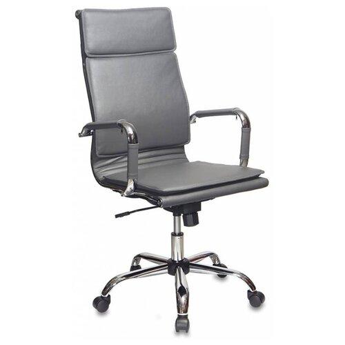 Компьютерное кресло Бюрократ CH-993 для руководителя, обивка: искусственная кожа, цвет: серый