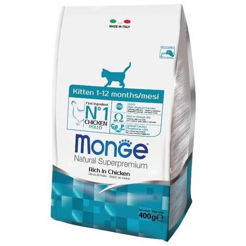Корм для кошек Monge Cat Kitten – для котят с курицей и рисом (0.4 кг)Корма для кошек<br>