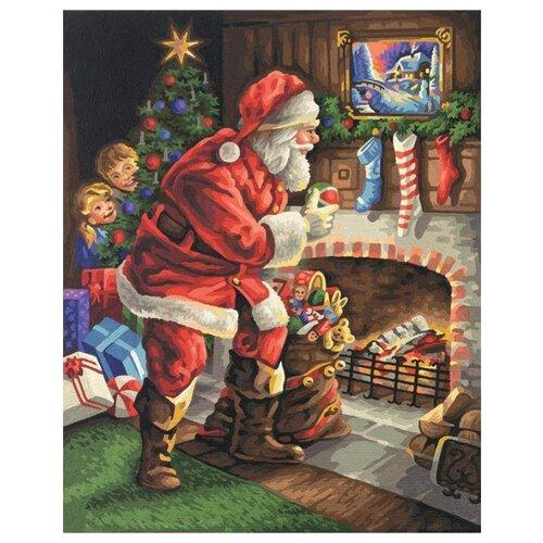 Schipper Картина по номерам Санта Клаус у камина 40х50 см (9300696)Картины по номерам и контурам<br>