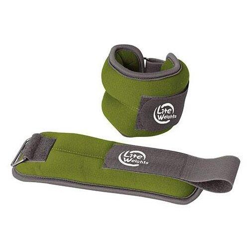 Набор утяжелителей 2 шт. 0.5 кг Lite Weights 5868WC зеленый бодибар lite weights 33 х 1200 мм 6 кг