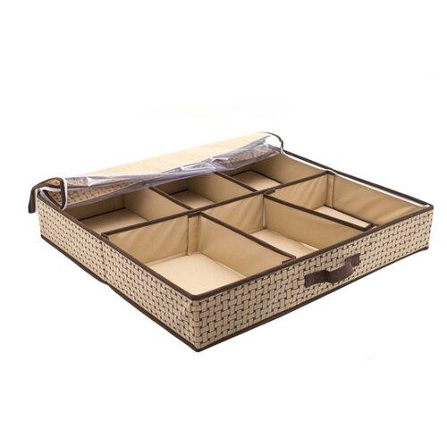 HOMSU Органайзер для обуви Pletenka Smart Shoes бежевый/коричневый органайзер homsu costa rica для обуви цвет коричневый 51 х 25 х 12 см