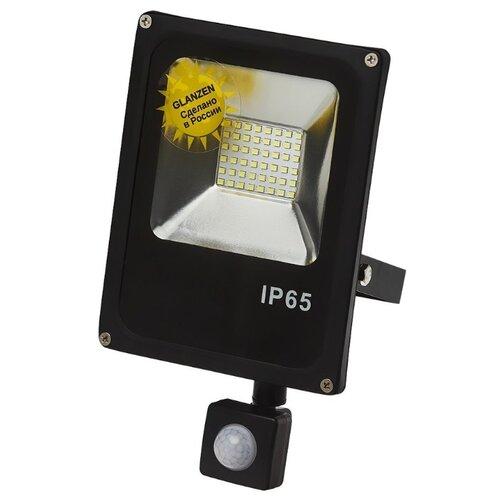 Прожектор светодиодный с датчиком движения 20 Вт Glanzen FAD-0011-20 portable led spotlight glanzen fad 0014 20