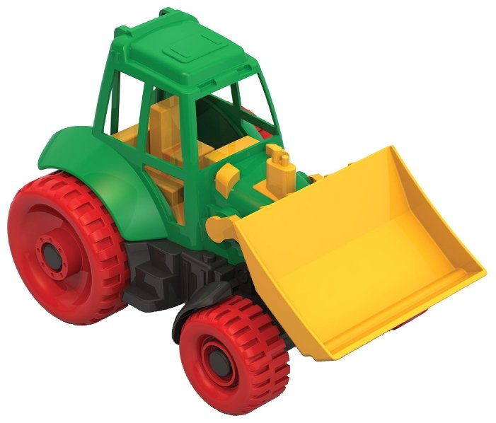 Трактор Нордпласт с грейдером (059) 27.5 см красный/желтый/зеленый
