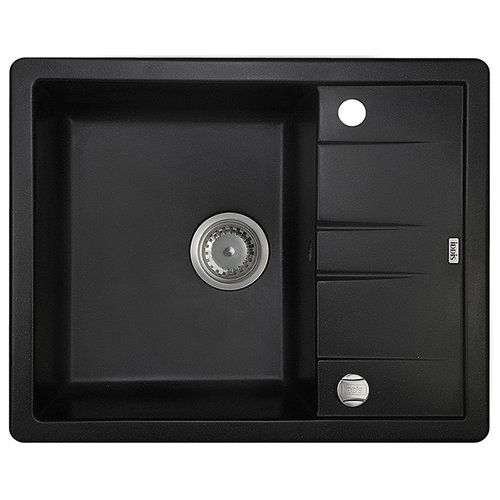 Купить со скидкой Врезная кухонная мойка 61 см IDDIS Vane G V06B621i87 V06B621i87 черный