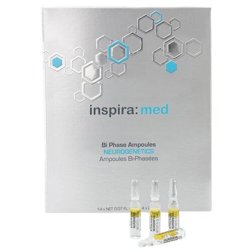 Inspira Cosmetics med Bi Phase Ampoules Neurogenetics Двухфазная сыворотка дя лица для экспресс-восстановления кожи, 2 мл , 14 шт. недорого
