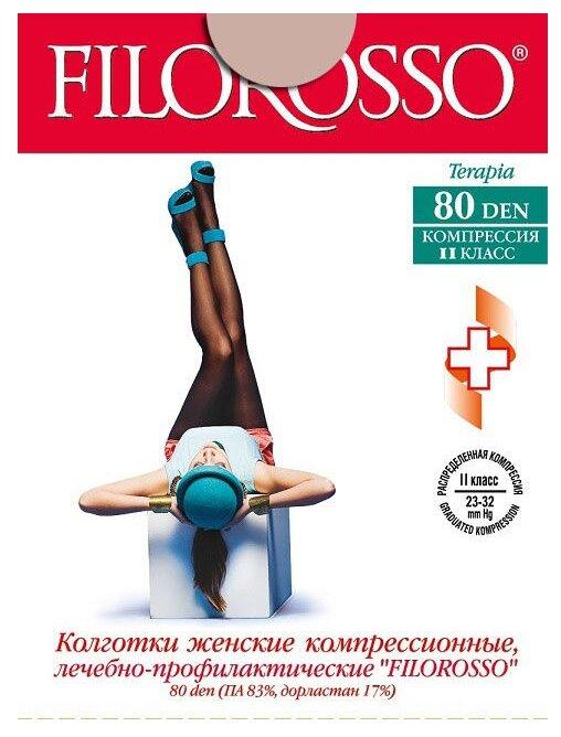 Колготки Filorosso Terapia 80 den размер 3, черный