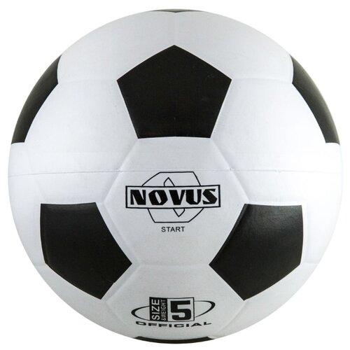 Футбольный мяч Novus START черный/белый 5