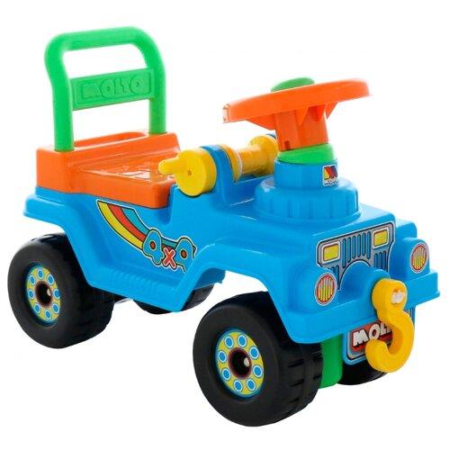 Купить Каталка-толокар Molto Джип 4x4 №2 (62819 / 62826 / 62833) голубой, Каталки и качалки